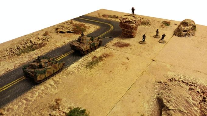 Desert theme with Asphalt Road - 15mm FoW minis