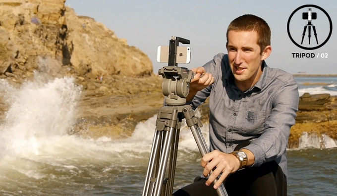 Capture those scenic surroundings with professional pan, tilt, or still shots by easily mounting your phone Handle to a full size tripod.