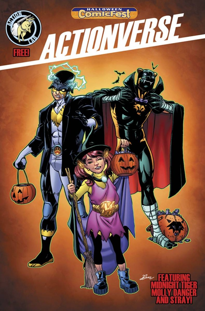 The cover for the Actionverse Halloween Comicfest issue