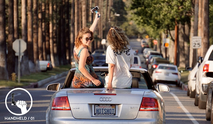 Snap some shots and keep your phone safe during your sunny convertible strolls through town.