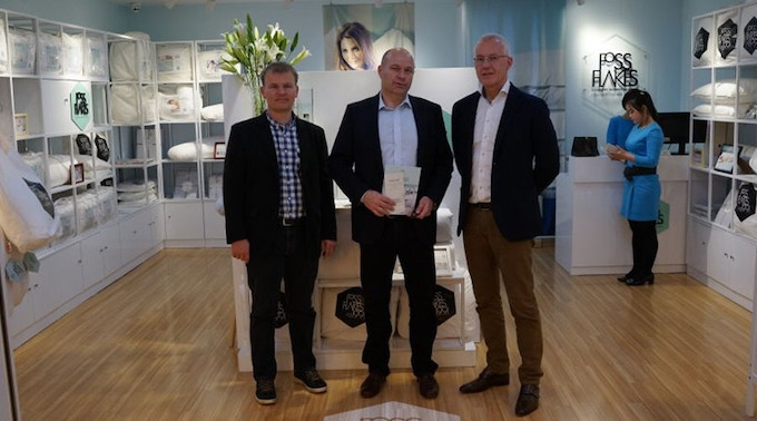 Adam, Bajarne and Maarten at a recently opened retail store in China