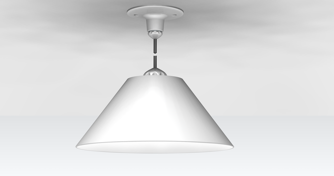 Cone shade with Pendant connector (CAD Design of prototype)