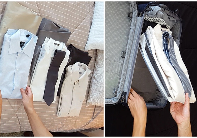 Organize your clothes once.  No need to unpack with EZSTAX!