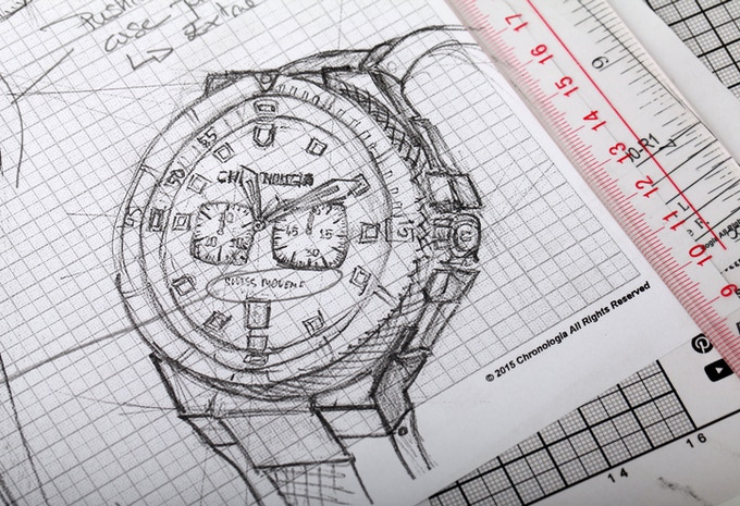 Sketch of Chronologia Dive Watch