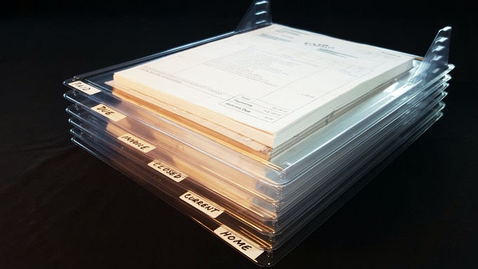 STAY organized in the office with EZSTAX!  Using common file labels, you can see all your files at once!