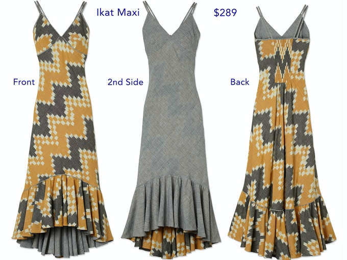 This dress is highly adjustable due to the elastic smocking in the back