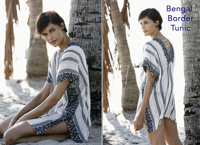 Side and back views of our Bengal Border Tunic