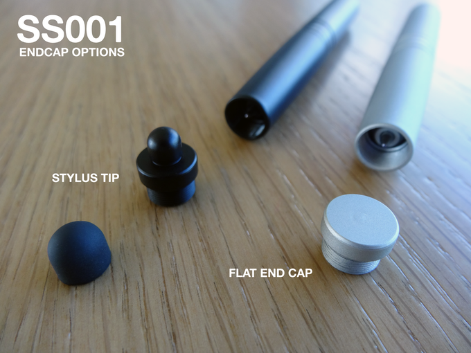 SS001 Flat End Cap & Stylus Adaptor End Cap