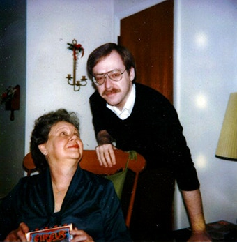 Jeff with his mother.