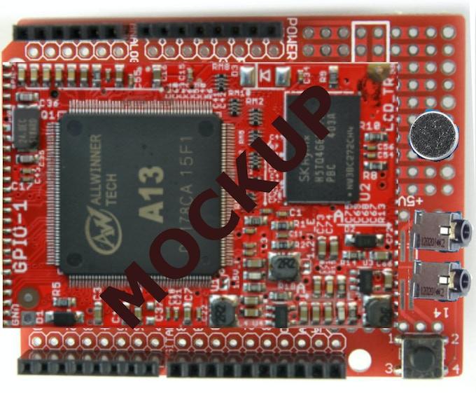 Mockup of MOVI Arduino Shield