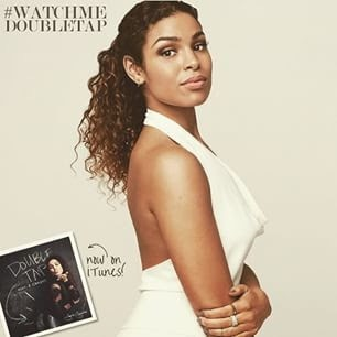 Jordin Sparks Rockin' FBF by Checka's Siren Gown in Winter White