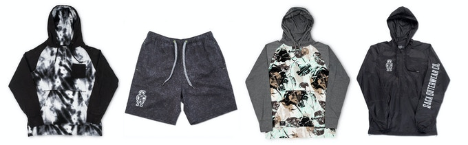 SAGA Henley Pullover, Activity Short, All Over Pullover & Windbreaker