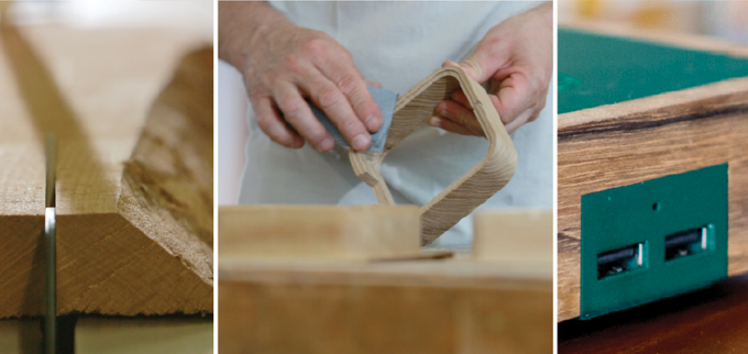 From solid Wood, through CNC Machining, to the hands of the craftsman.
