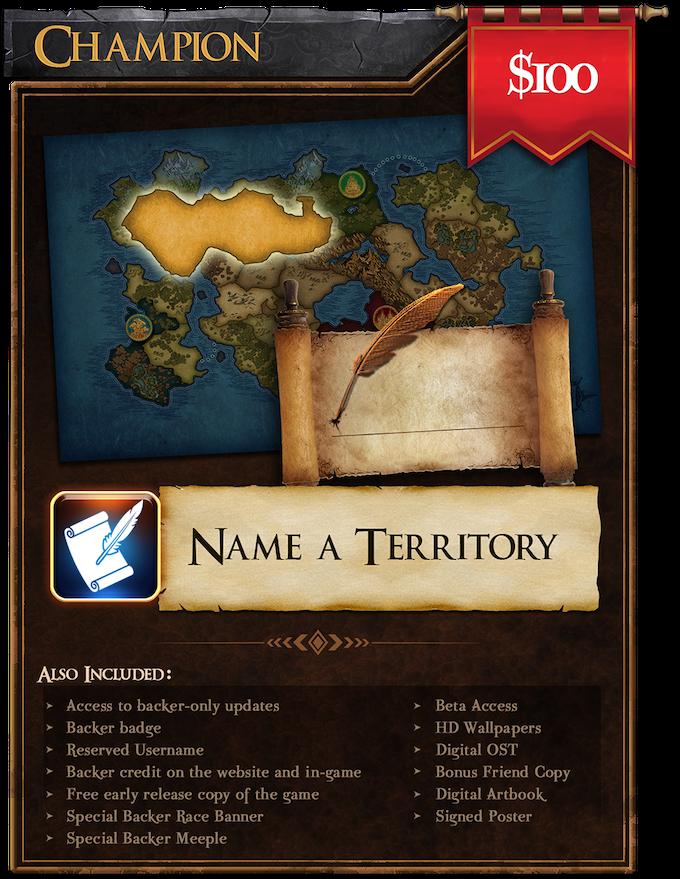 Champion ($100): Name a Territory!