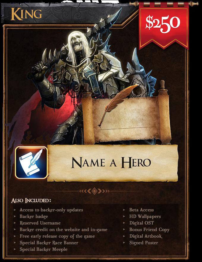 King ($250): Name a Hero!