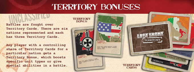 Territory Cards are what it's all about. Capturing Territories awards bonuses in battle!