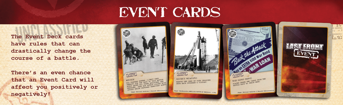 Event Cards represent the winds of war.