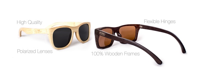 Wood Frame Sunglasses with a Cause by Land Over Yonder- Gage and ...