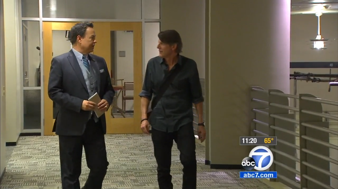 George Pennacho of ABC7 interviews Adam Nimoy