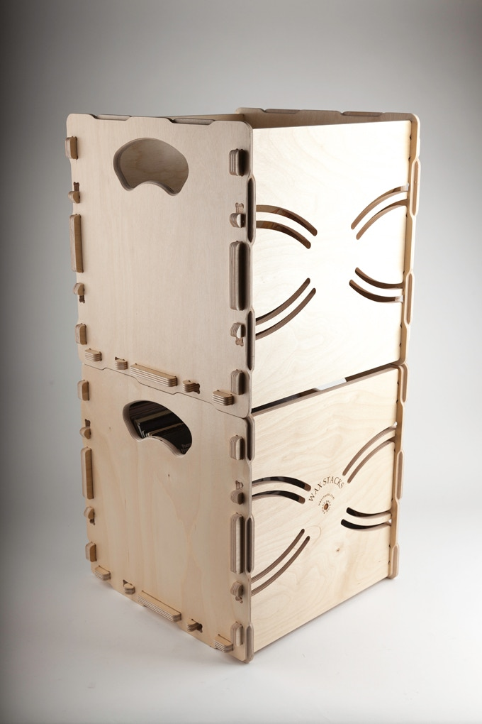 Our crates are built to stack in several configurations. Stack them upright for storage or moving.