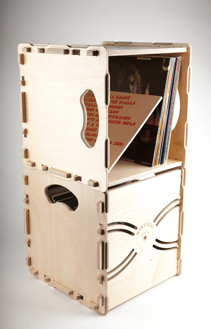 Our crates stack either upright or facing out. Change them around to suit your needs.