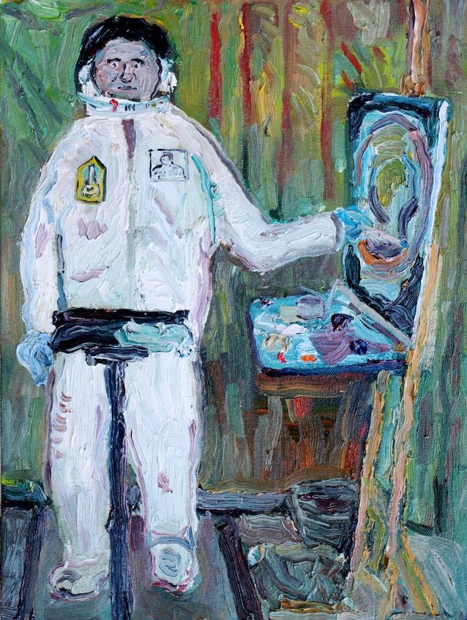 Portrait of Commander Mr Let's Paint by Paulette