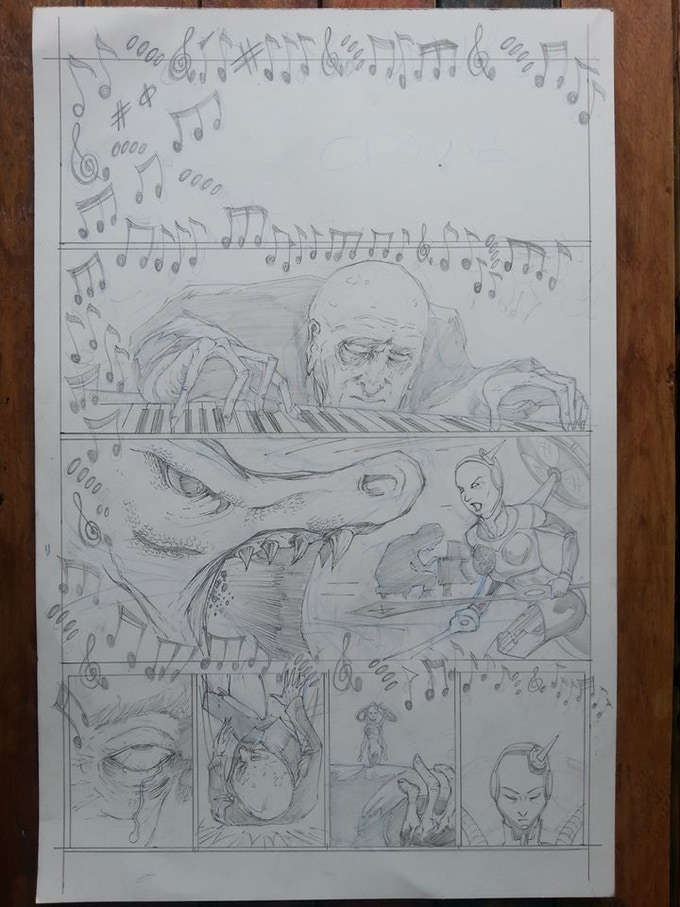 Rich Perrotta - The Practice of Perfect - Penciled Comic Page