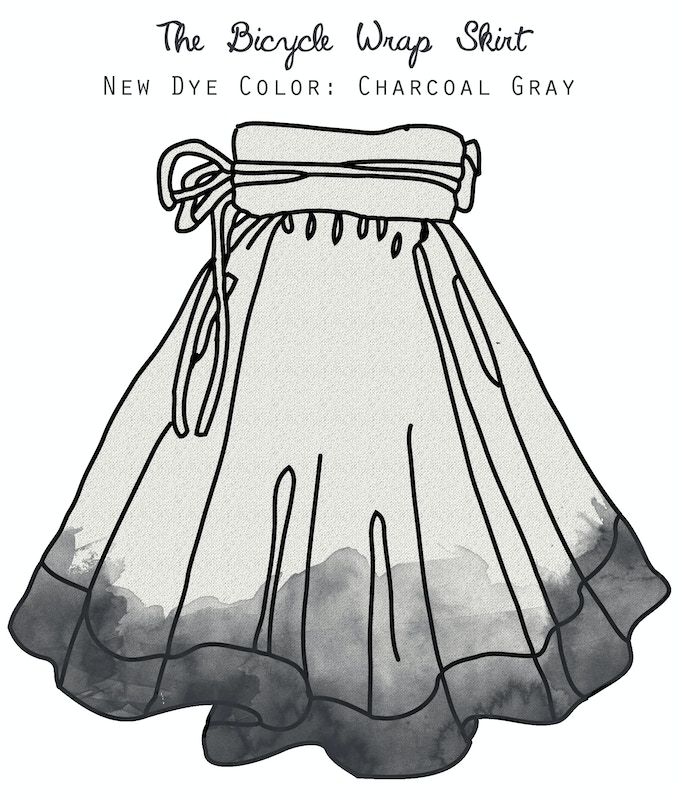 New color options: dip-dyed charcoal gray or solid charcoal gray.