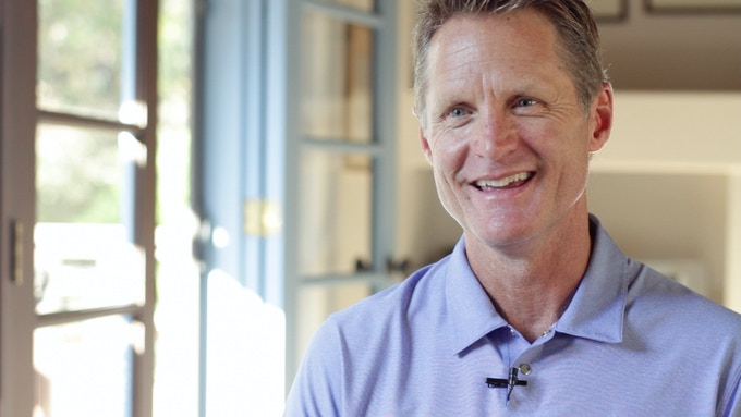 Wildcat legend and NBA Champion Steve Kerr being interviewed for '88 (Cinematography by Sean P. Malone).