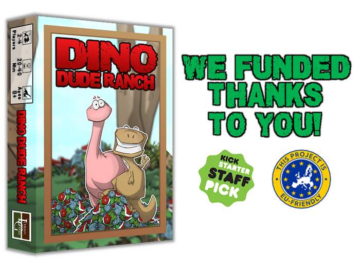A set collection/resource management board game about wranglin' the most valuable dinosaurs for your ranch.