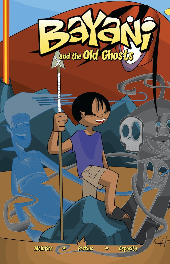 Cover Art For Bayani And The Old Ghosts Issue 1
