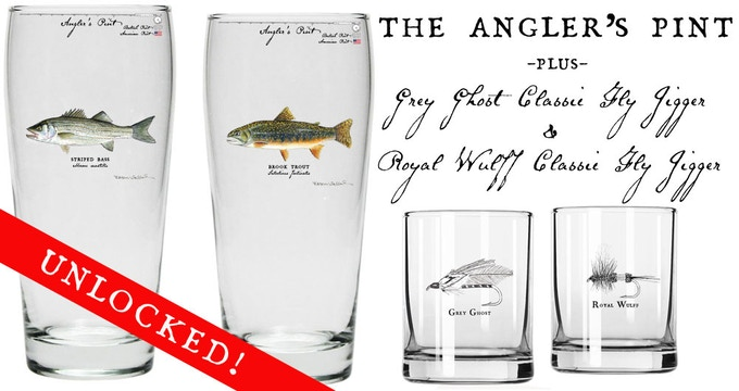 All backers will now get three FREE glasses with their other reward(s)!