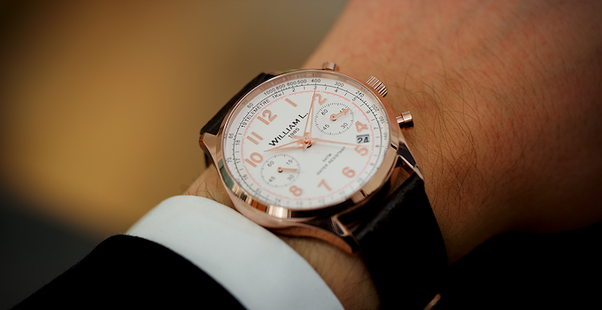 Rose gold on the wrist