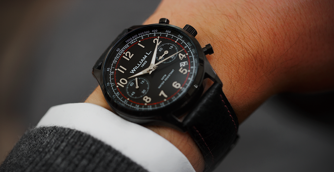 Black DLC on the wrist