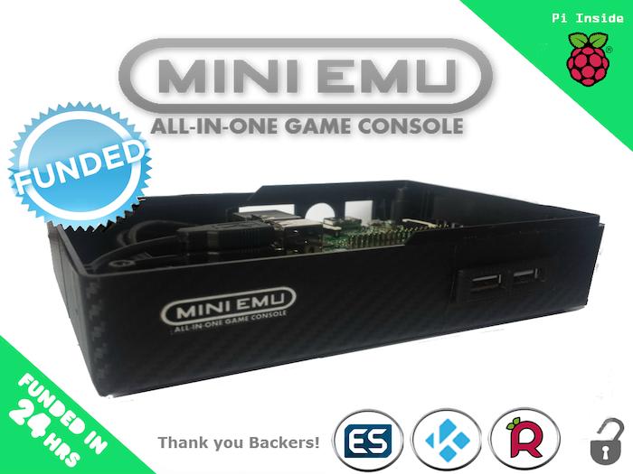 Mini emu all in one retro game console raspberry pi by sumbo design kickstarter - Retro game emulator console ...