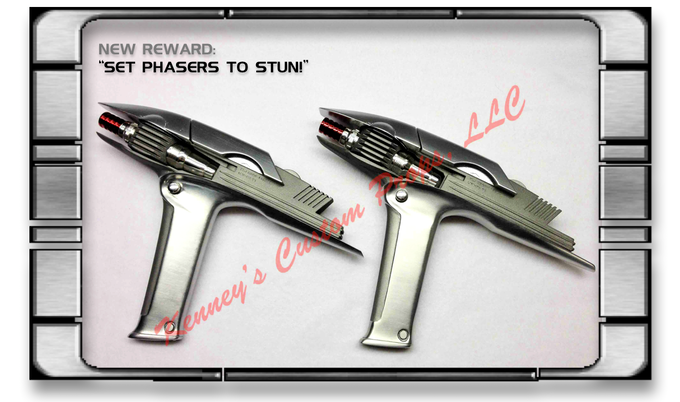 PHASERS from the new films created by Ken Palkow, one of the original props builders!