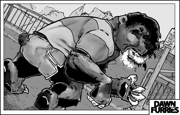 Digital shading on the inked page from Issue 2.