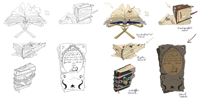 A lot of time went into making the books really shine.