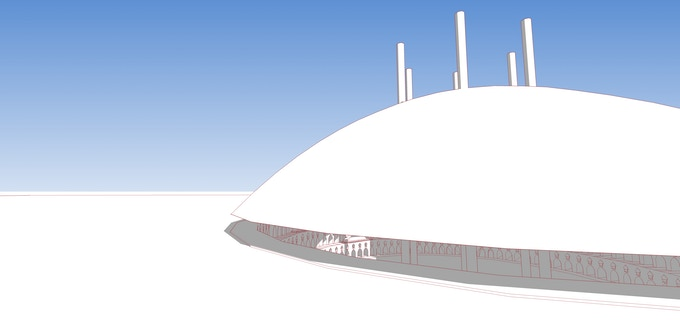 A concept model for the Sultan's Library itself.
