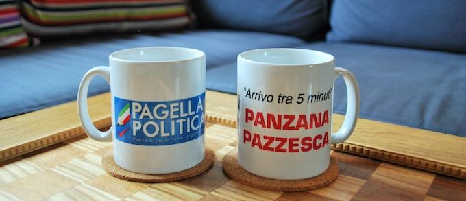 la ricompensa da 100€: una tazza Panzana Pazzesca su misura