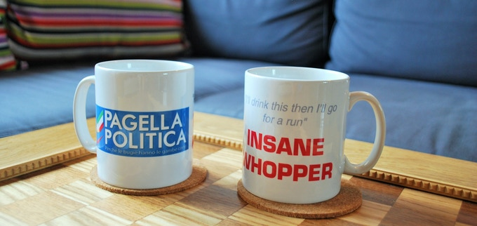 the reward for €100 givers: a personalized Insane Whopper mug