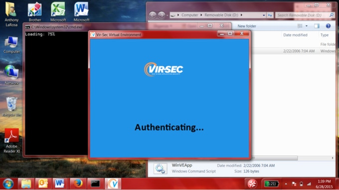 Authentication Screenshot