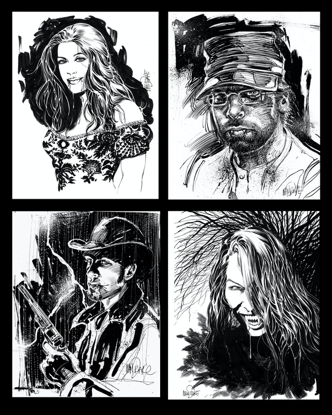 Vampire Portrait examples by Tom Mandrake of Team Kros Vampires, Sian, Justin, Jack and Jan