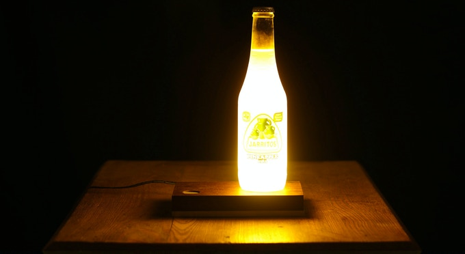 Ain't nothin more pineappley than a pineapple soda lamp