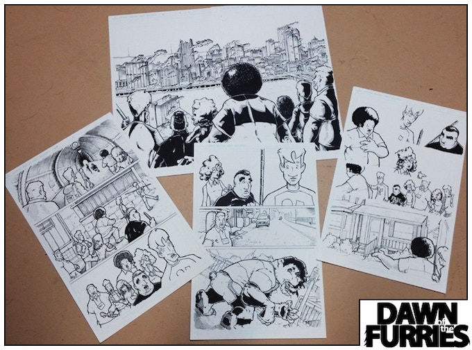 Some of the page art from Issue 2