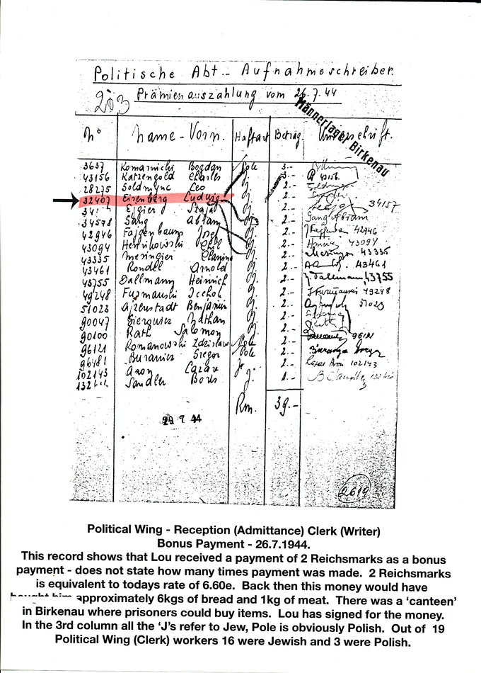 One of many documents of proof