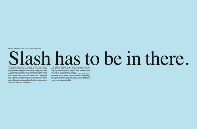 Slash draft text page