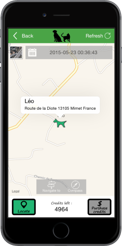 Locate your animal on a map