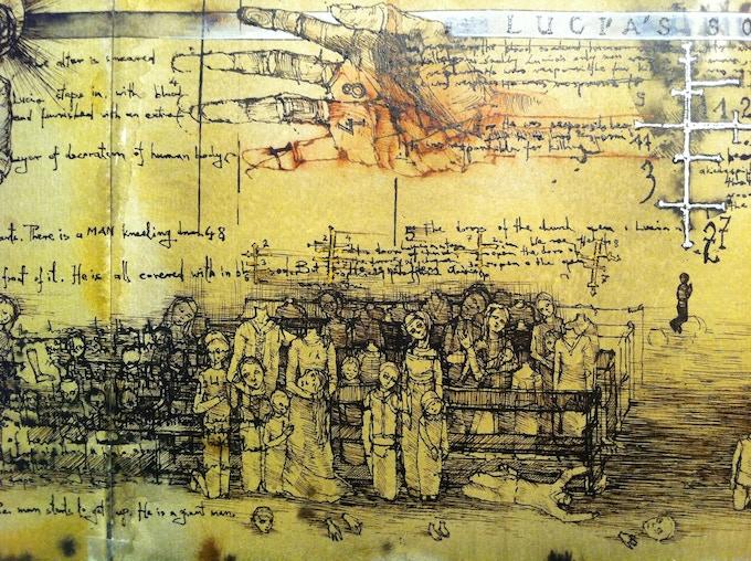 WARRIOR NUN:  'Origins' book sample page
