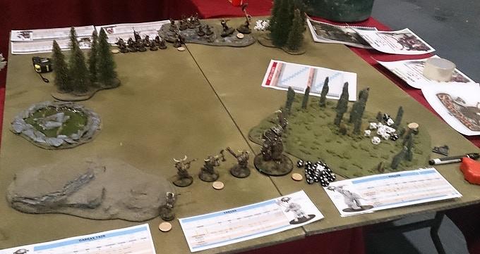 A Darklands battle, about to begin